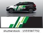 sport car decal wrap design... | Shutterstock .eps vector #1555587752