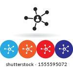 business network vector icon ....   Shutterstock .eps vector #1555595072