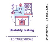 usability testing concept icon. ...