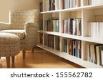 Home Library With Arm Chair....