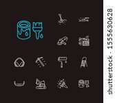 construction tools icons set....