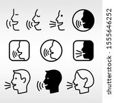 speak head technology signs.... | Shutterstock .eps vector #1555646252