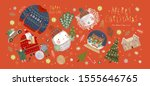 winter holiday isolated objects ... | Shutterstock .eps vector #1555646765