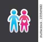 family love over black... | Shutterstock .eps vector #155569682