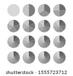 segmented circles set isolated... | Shutterstock .eps vector #1555723712