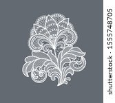 lace flowers decoration graphic ... | Shutterstock .eps vector #1555748705