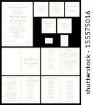 gold formal wedding stationary... | Shutterstock .eps vector #155575016