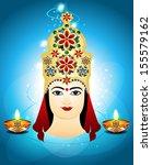navratri card design vector...   Shutterstock .eps vector #155579162