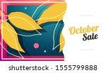 october sale banner colorful... | Shutterstock .eps vector #1555799888