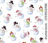 vector christmas seamless... | Shutterstock .eps vector #1555816988