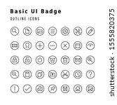 a set of basic ui badge icons....