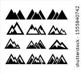 mountain icon collection vector ... | Shutterstock .eps vector #1555840742