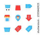 ecommerce flat vector icon set...