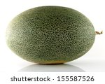 cantaloupe melon isolated on... | Shutterstock . vector #155587526