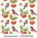 seamless autumn and winter... | Shutterstock .eps vector #155589506