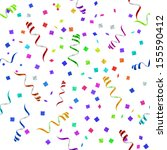 party streamers pattern.... | Shutterstock .eps vector #155590412