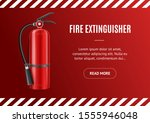 realistic detailed 3d fire... | Shutterstock .eps vector #1555946048
