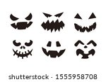 halloween masks icon template... | Shutterstock .eps vector #1555958708