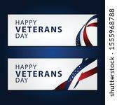 happy veterans day vector... | Shutterstock .eps vector #1555968788