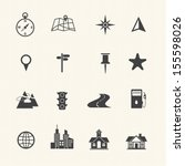 map icons and location icons | Shutterstock .eps vector #155598026