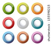 set of bright plastic buttons ... | Shutterstock . vector #155598215