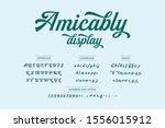 lettering typography alphabet... | Shutterstock .eps vector #1556015912