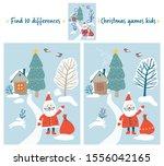 christmas games kids. find... | Shutterstock .eps vector #1556042165
