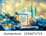 Christmas Lantern With Festive...