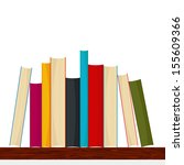 bookshelf with different sizes... | Shutterstock .eps vector #155609366