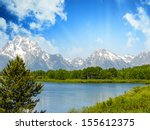 Landscape Of Grand Teton...