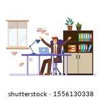businessman businessman in suit ... | Shutterstock .eps vector #1556130338