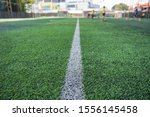 Small photo of White Line is in the soccer field (Football field).