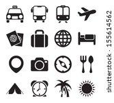 travel icons | Shutterstock . vector #155614562