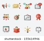 marketing icon set | Shutterstock .eps vector #155614946