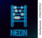 blue glowing neon line abacus... | Shutterstock .eps vector #1556151512