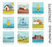 power plants and natural energy ... | Shutterstock .eps vector #1556153975
