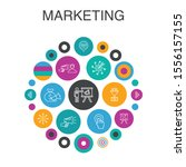 marketing infographic circle...