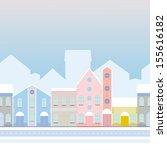 house buildings  home seamless... | Shutterstock .eps vector #155616182