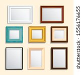 set of isolated picture frame... | Shutterstock .eps vector #1556176655