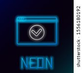 blue glowing neon line secure...   Shutterstock .eps vector #1556180192