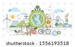 eco friendly outline concept... | Shutterstock .eps vector #1556193518