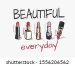 Beautiful Slogan With Lipsticks ...