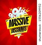 massive discounts sale banner... | Shutterstock .eps vector #1556209952