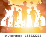 abstract boys running in the... | Shutterstock .eps vector #155622218
