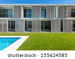 modern villa with pool  view... | Shutterstock . vector #155624585
