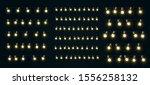 christmas lights. xmas glowing... | Shutterstock .eps vector #1556258132