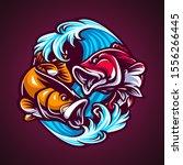 hand draw fish vector...   Shutterstock .eps vector #1556266445