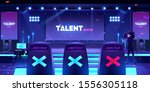 talent show stage with jury... | Shutterstock .eps vector #1556305118