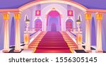 castle staircase  upward stairs ... | Shutterstock .eps vector #1556305145