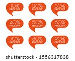 sale sticker set. 10 20 30 40... | Shutterstock .eps vector #1556317838